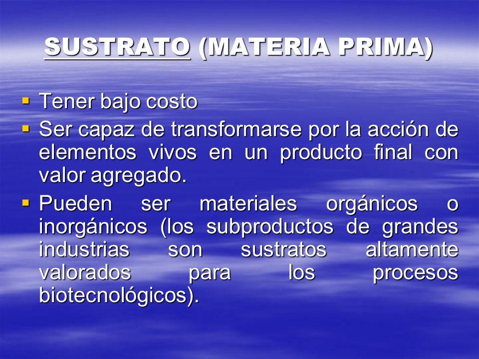SUSTRATO (MATERIA PRIMA)