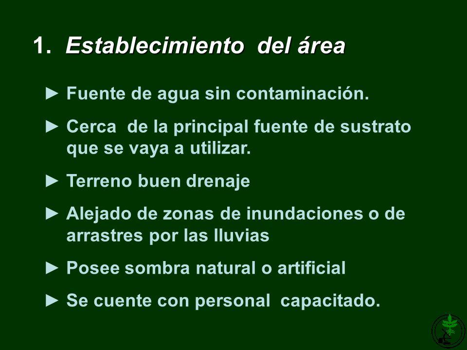 1. Establecimiento del área