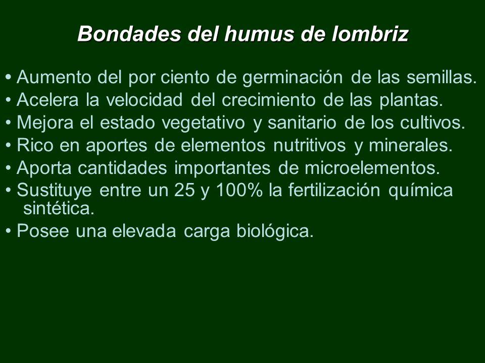 Bondades del humus de lombriz