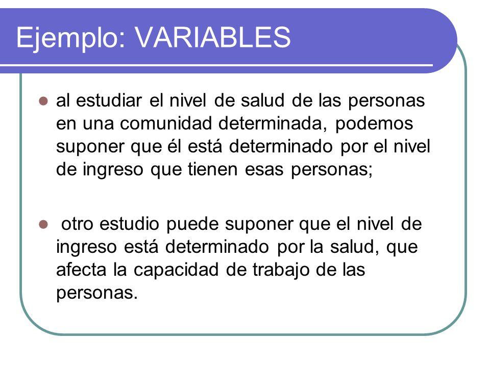 Ejemplo: VARIABLES