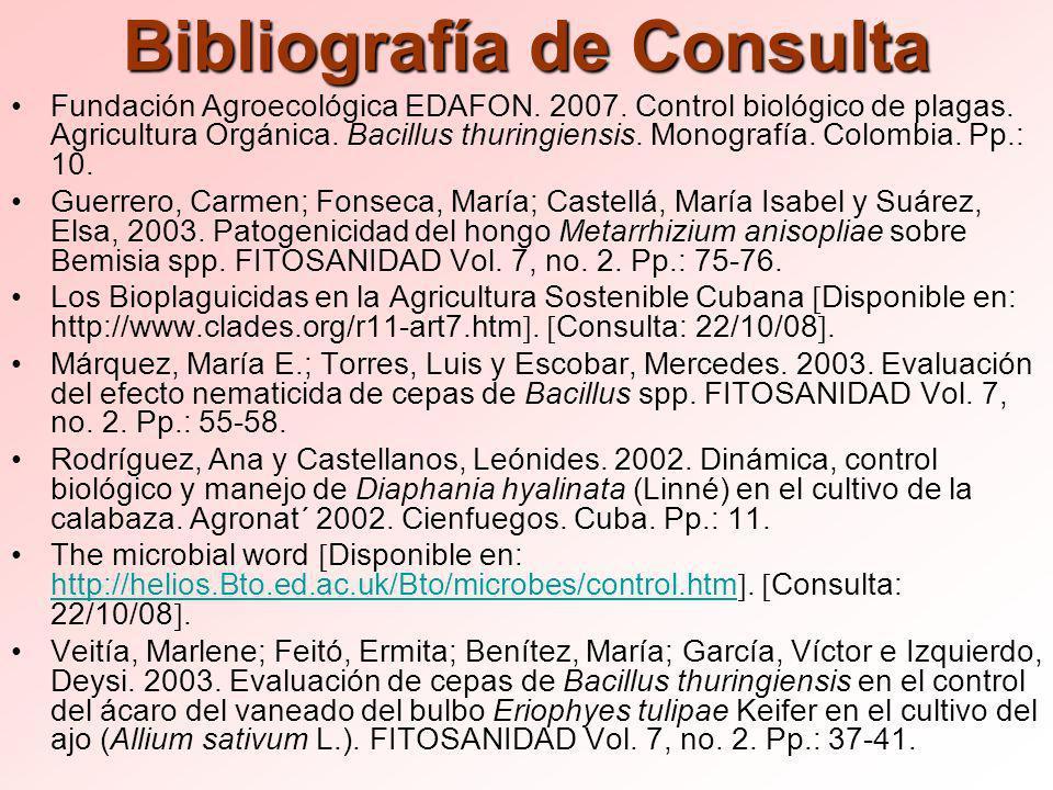 Bibliografía de Consulta