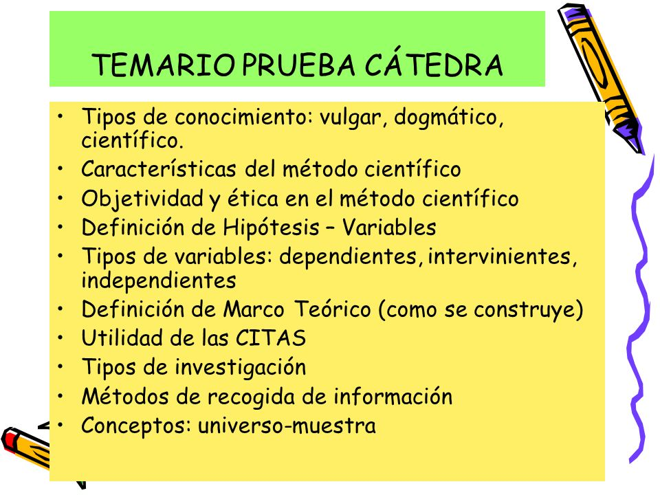 TEMARIO PRUEBA CÁTEDRA