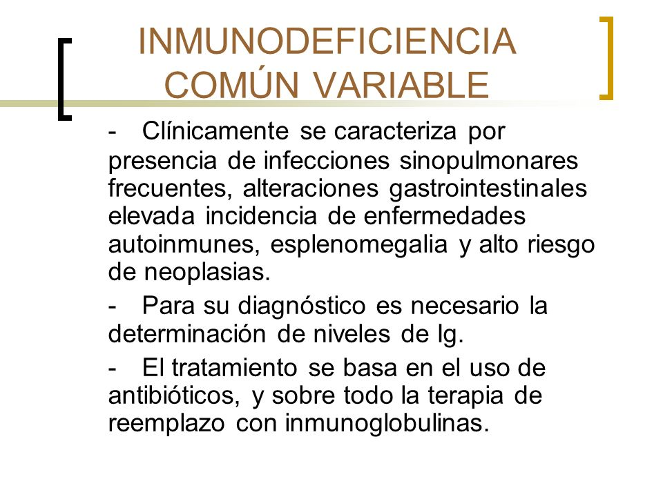 INMUNODEFICIENCIA COMÚN VARIABLE