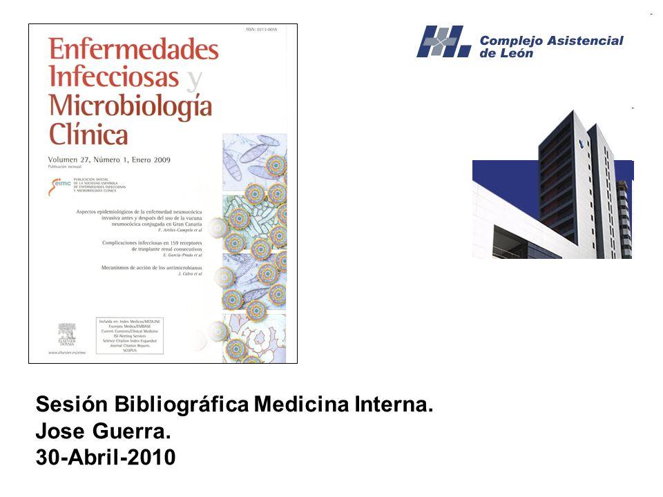 Sesión Bibliográfica Medicina Interna.