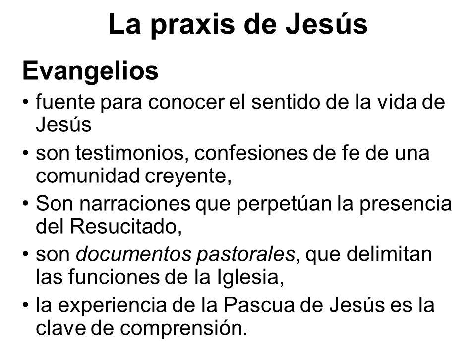 La praxis de Jesús Evangelios