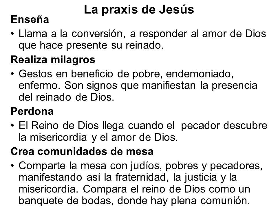La praxis de Jesús Enseña