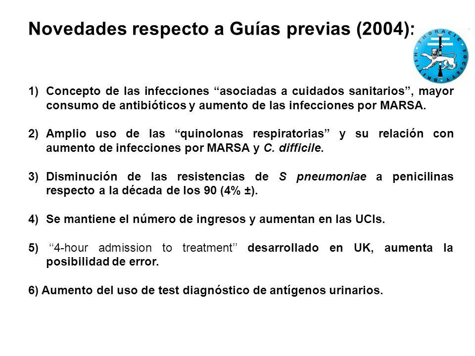 Novedades respecto a Guías previas (2004):