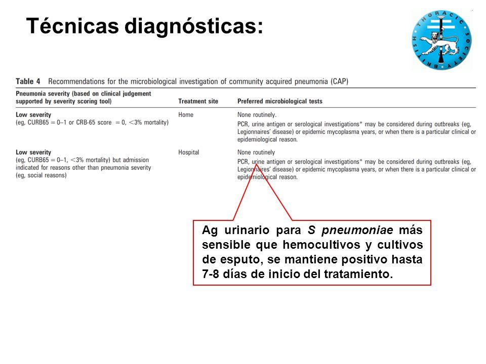 Técnicas diagnósticas: