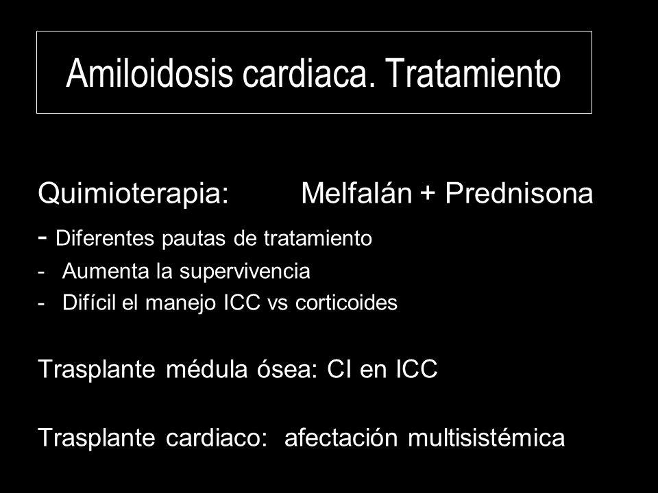 Amiloidosis cardiaca. Tratamiento