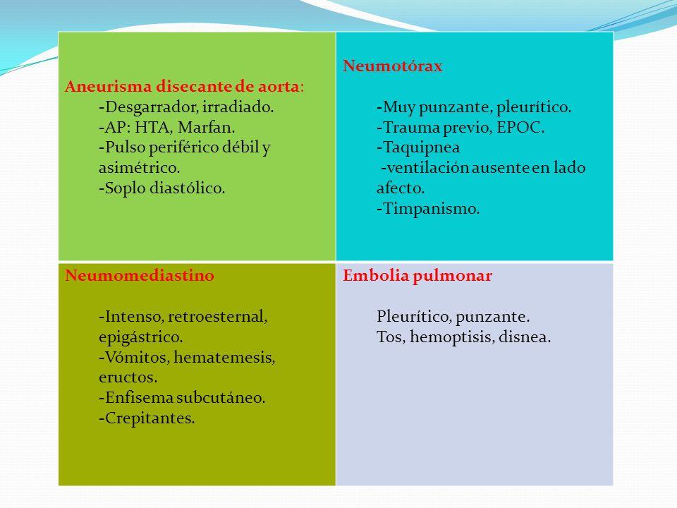 Aneurisma disecante de aorta: