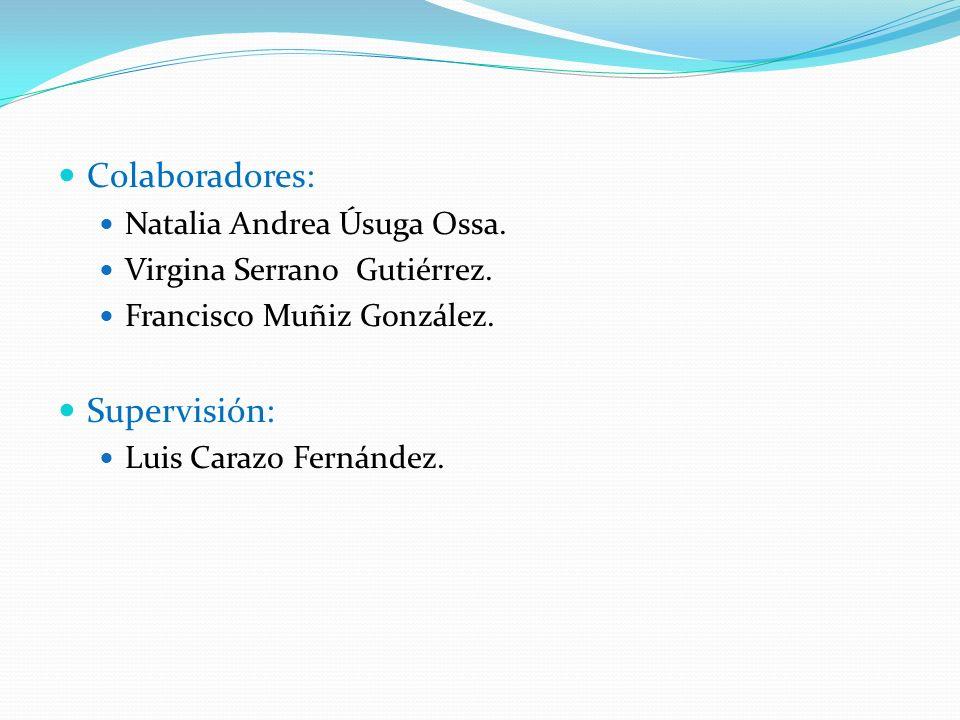 Colaboradores: Supervisión: Natalia Andrea Úsuga Ossa.