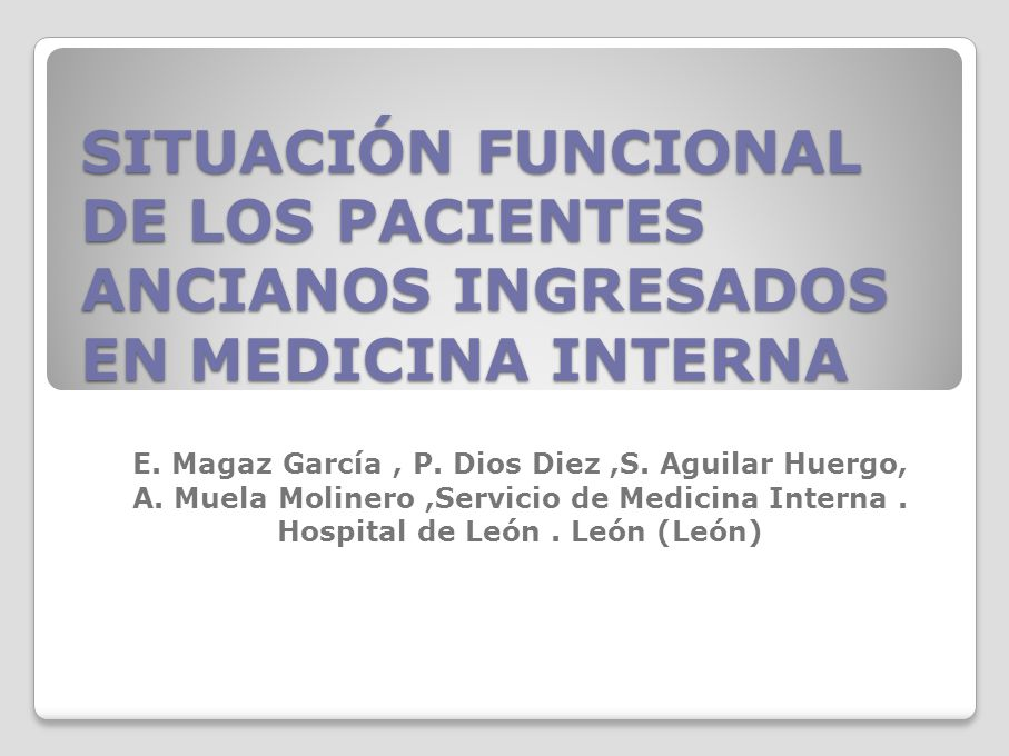 E. Magaz García , P. Dios Diez ,S. Aguilar Huergo,