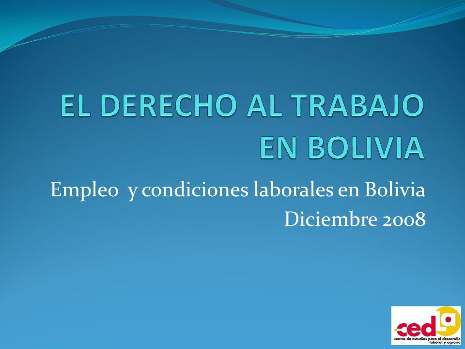 EL DERECHO AL TRABAJO EN BOLIVIA