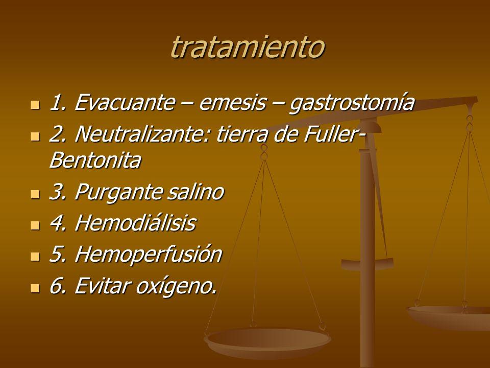 tratamiento 1. Evacuante – emesis – gastrostomía