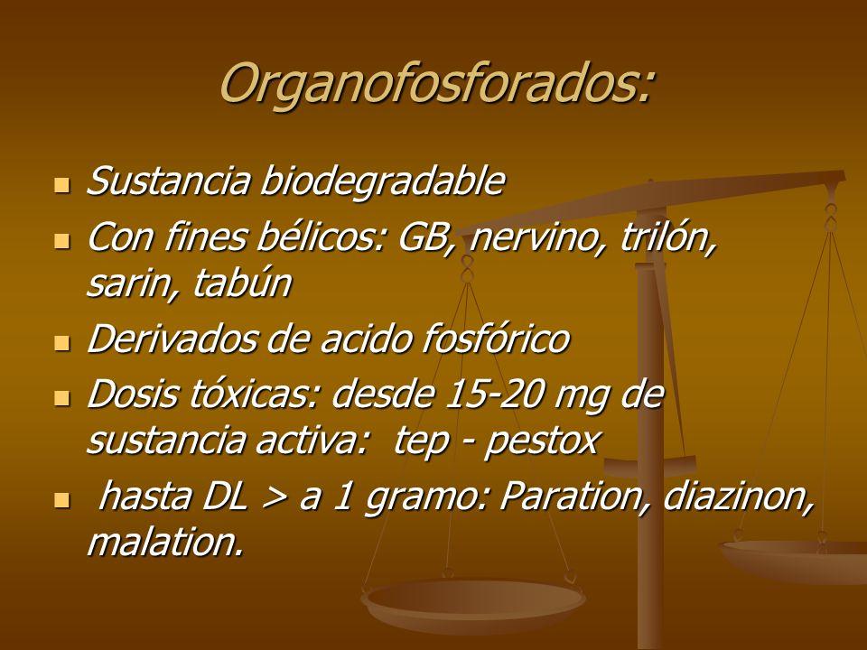Organofosforados: Sustancia biodegradable