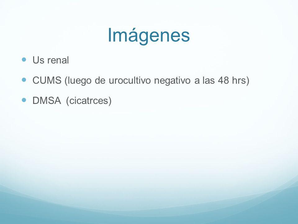Imágenes Us renal CUMS (luego de urocultivo negativo a las 48 hrs)