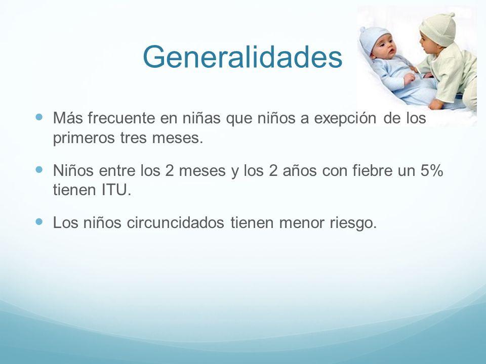Generalidades Más frecuente en niñas que niños a exepción de los primeros tres meses.