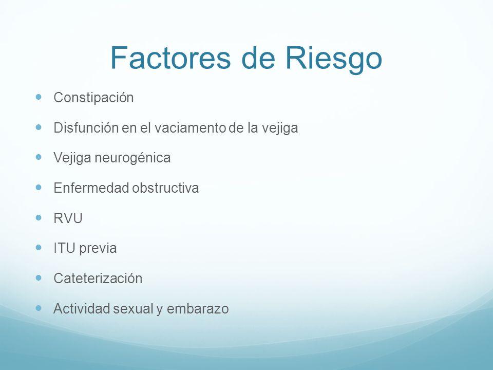 Factores de Riesgo Constipación