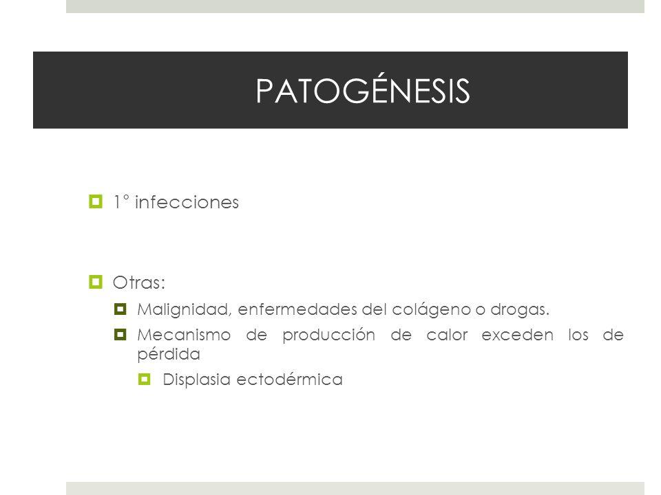 PATOGÉNESIS 1° infecciones Otras: