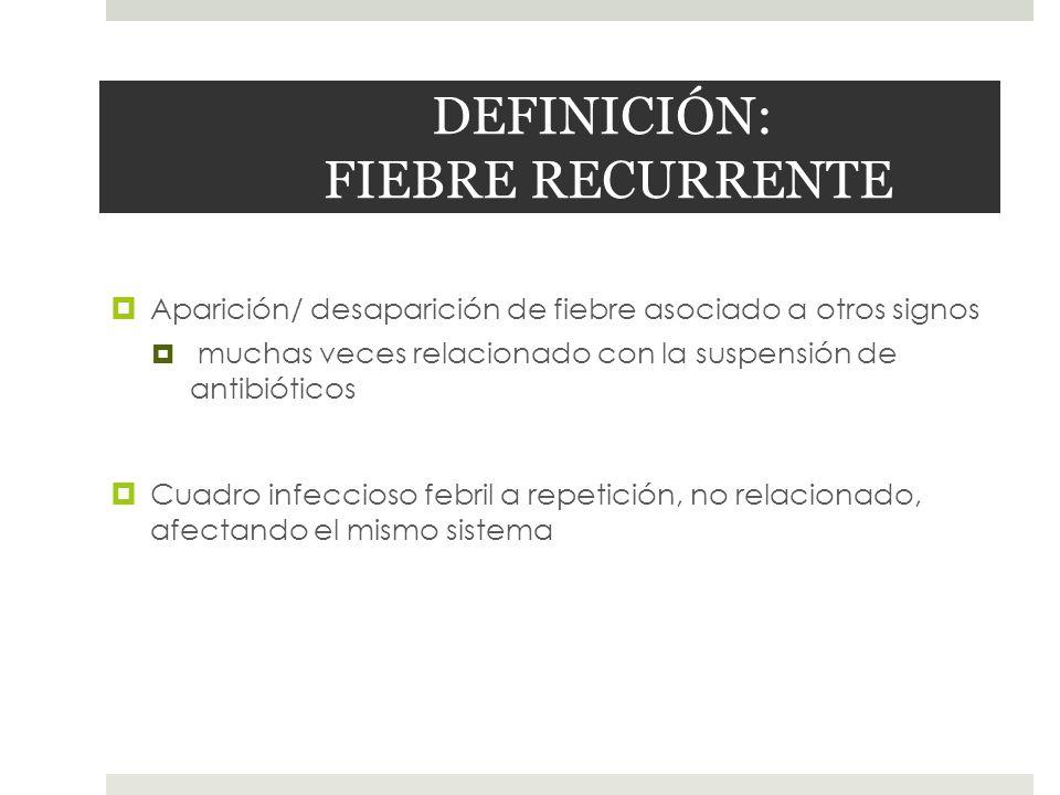 DEFINICIÓN: FIEBRE RECURRENTE