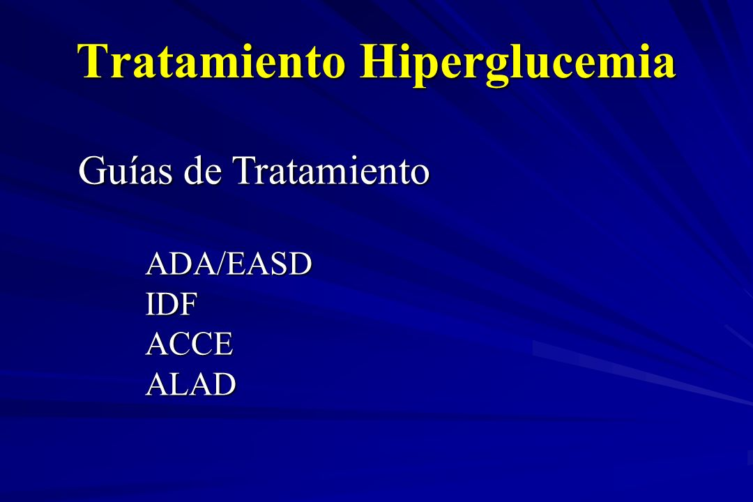 Tratamiento Hiperglucemia