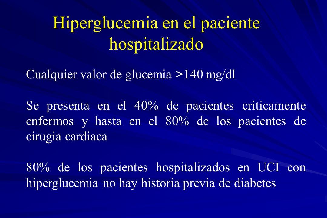 Hiperglucemia en el paciente hospitalizado