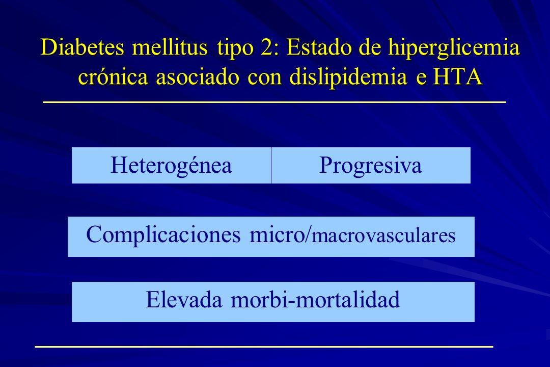Complicaciones micro/macrovasculares