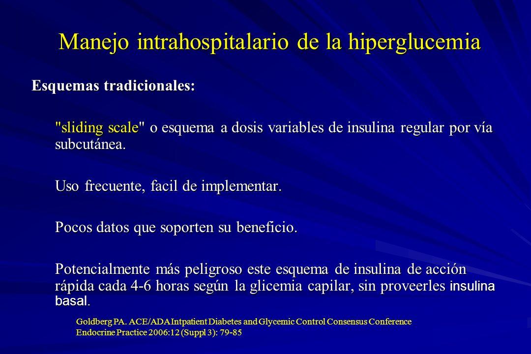 Manejo intrahospitalario de la hiperglucemia