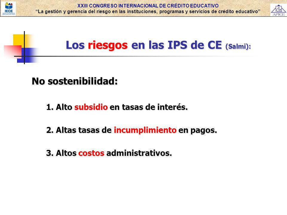 Los riesgos en las IPS de CE (Salmi):