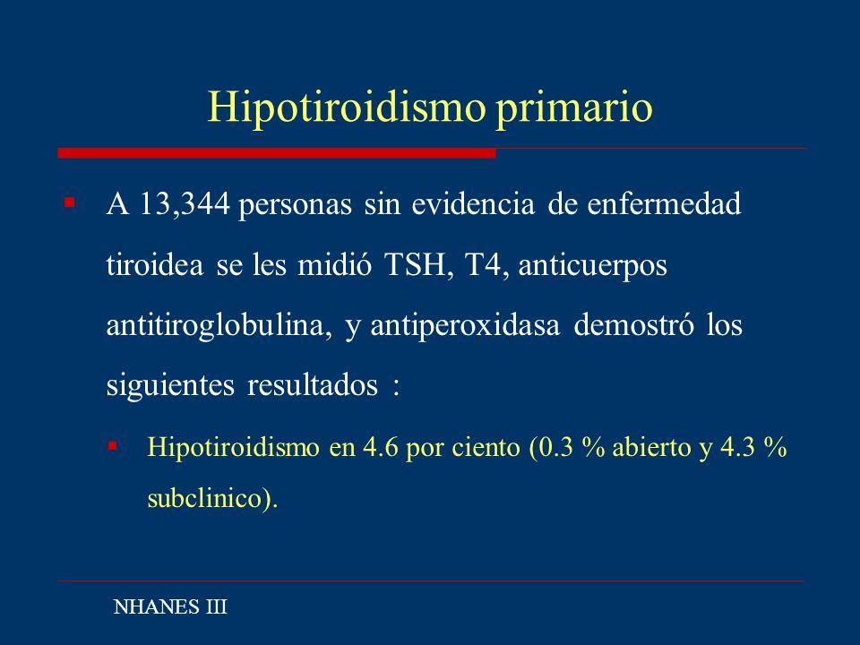 Hipotiroidismo primario
