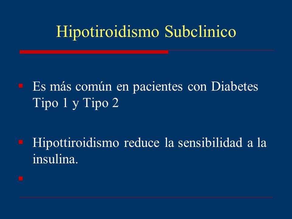 Hipotiroidismo Subclinico