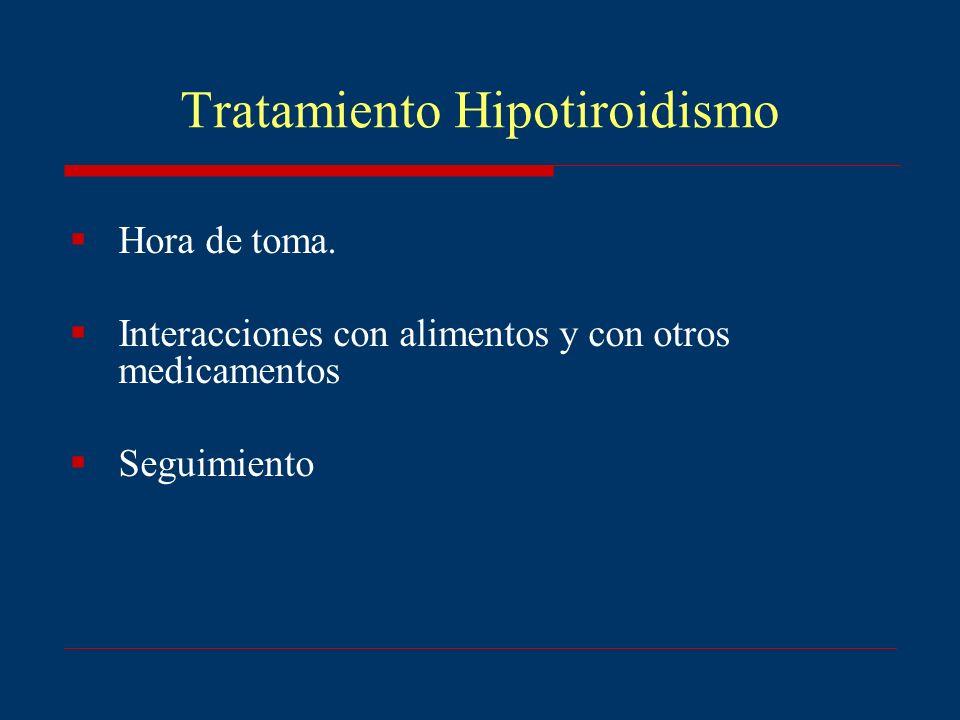 Tratamiento Hipotiroidismo