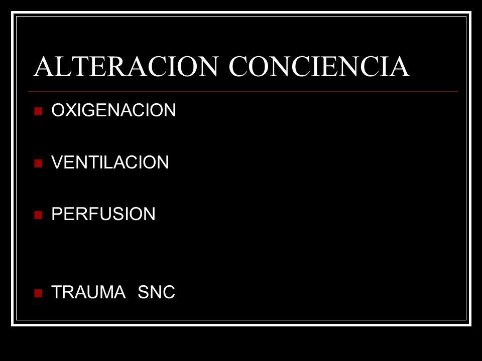 ALTERACION CONCIENCIA