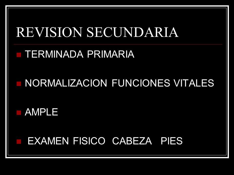 REVISION SECUNDARIA TERMINADA PRIMARIA NORMALIZACION FUNCIONES VITALES