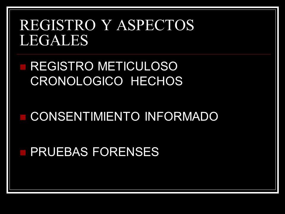 REGISTRO Y ASPECTOS LEGALES