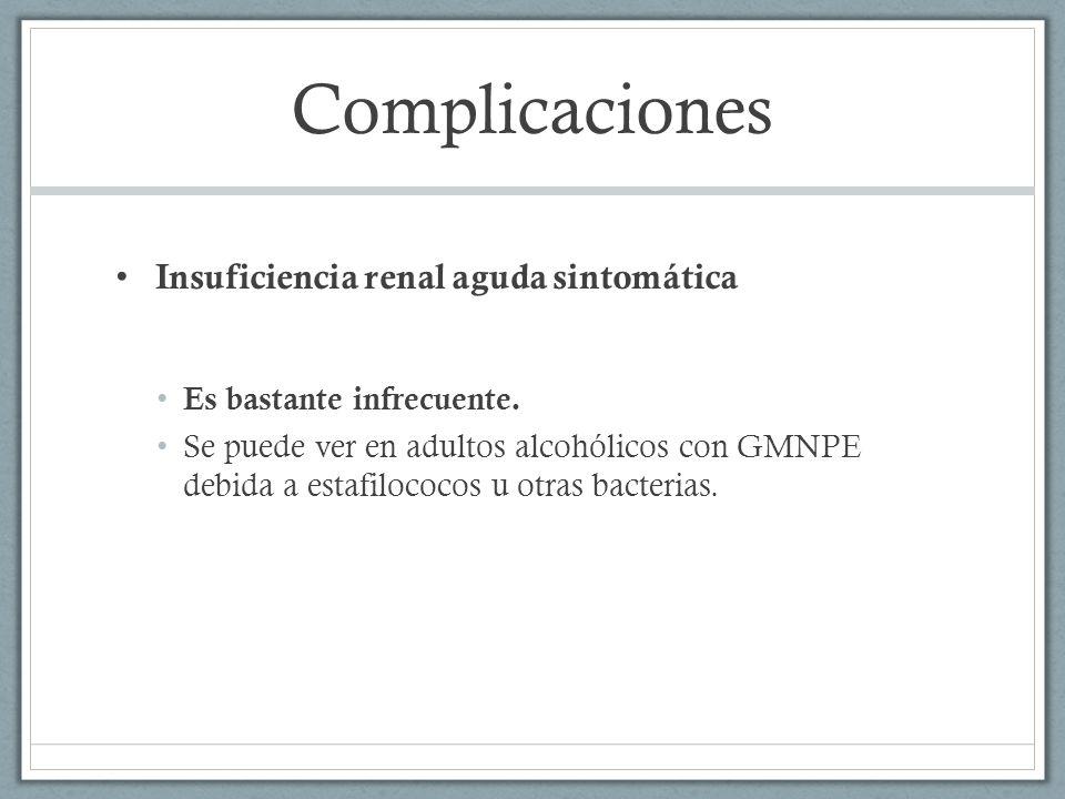 Complicaciones Insuficiencia renal aguda sintomática