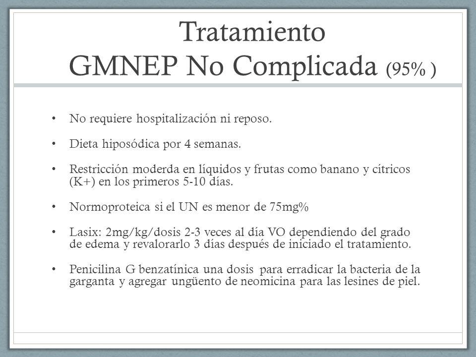 Tratamiento GMNEP No Complicada (95% )
