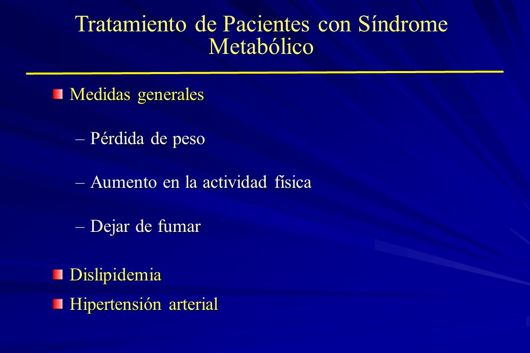 Tratamiento de Pacientes con Síndrome Metabólico