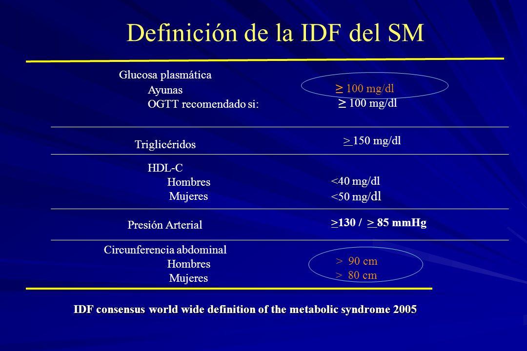 Definición de la IDF del SM
