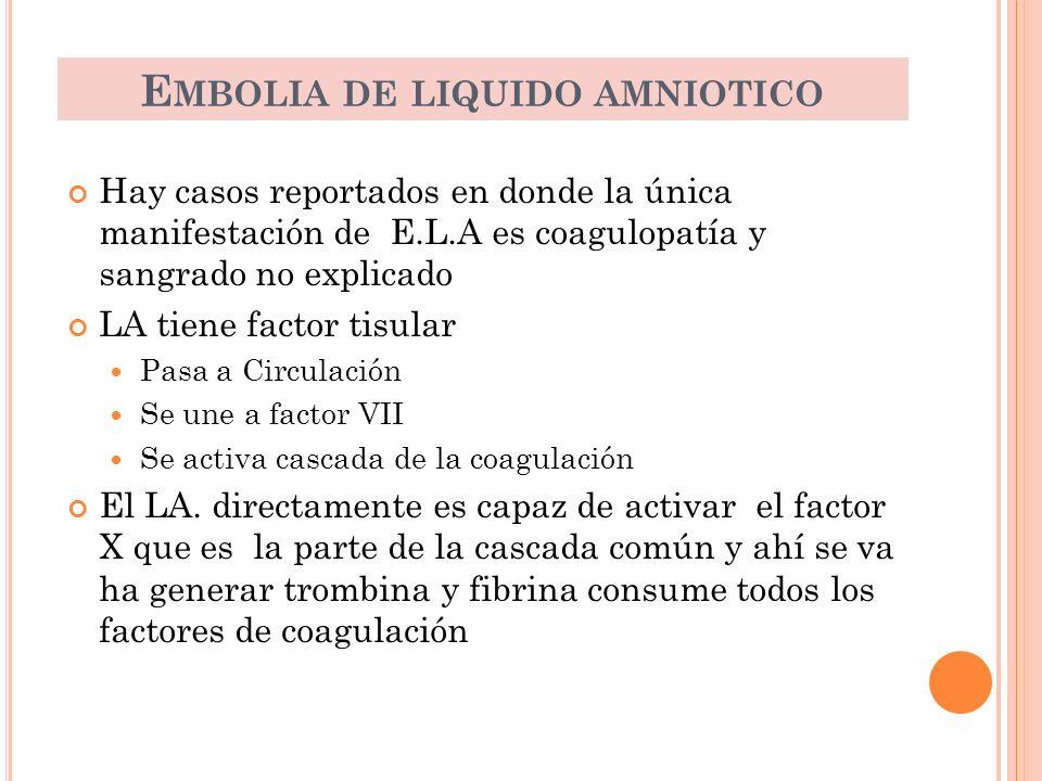 Embolia de liquido amniotico