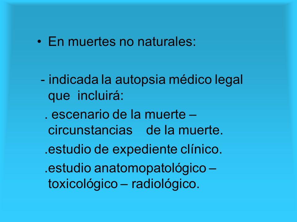 En muertes no naturales: