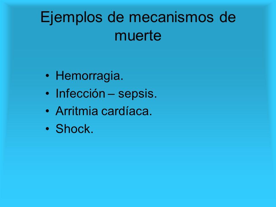 Ejemplos de mecanismos de muerte