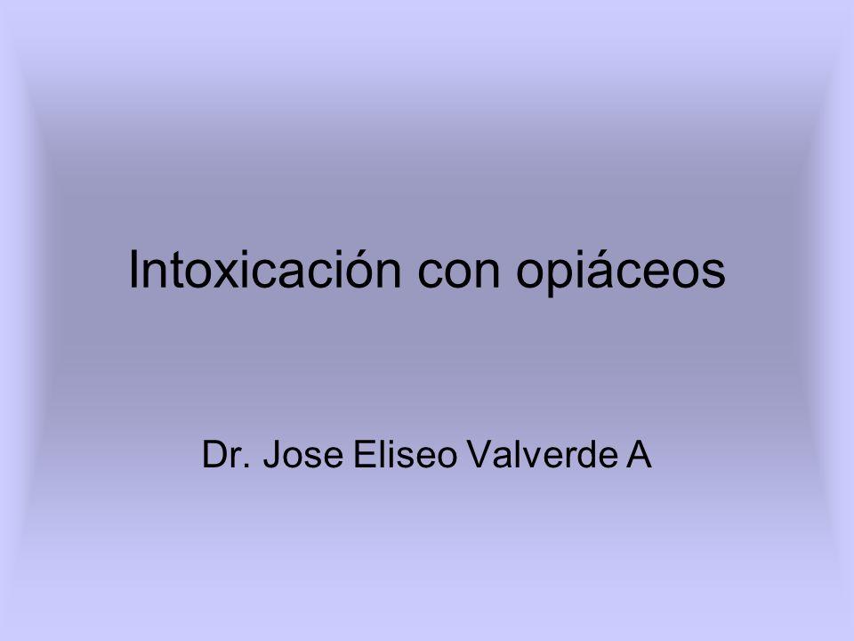 Intoxicación con opiáceos