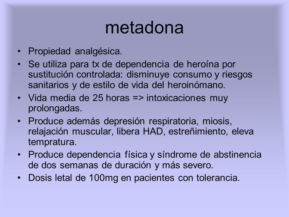 metadona Propiedad analgésica.