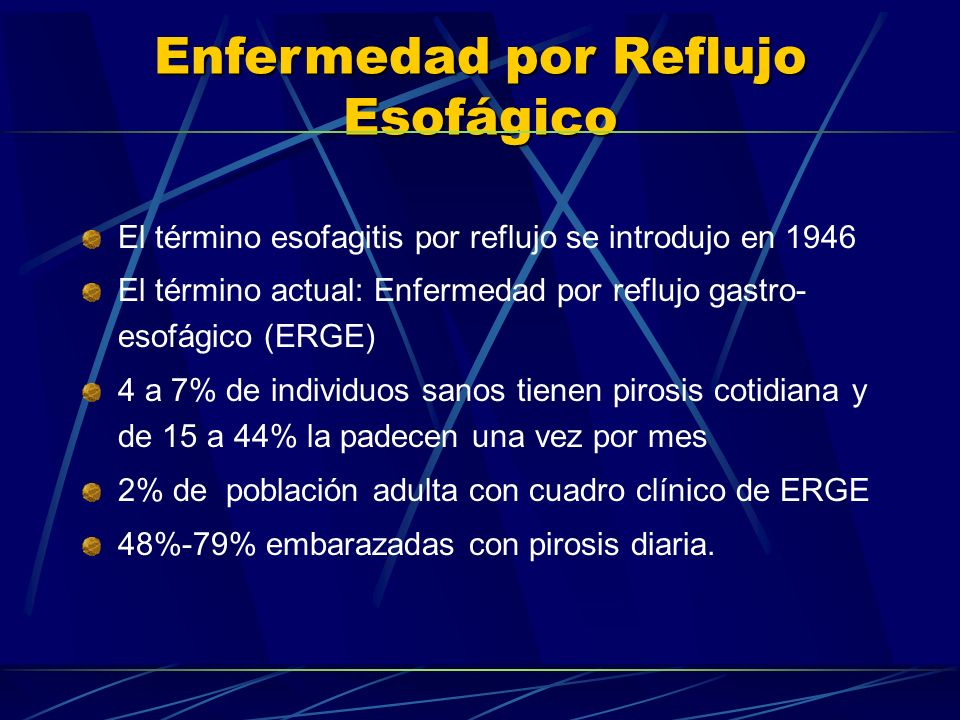 El término esofagitis por reflujo se introdujo en 1946