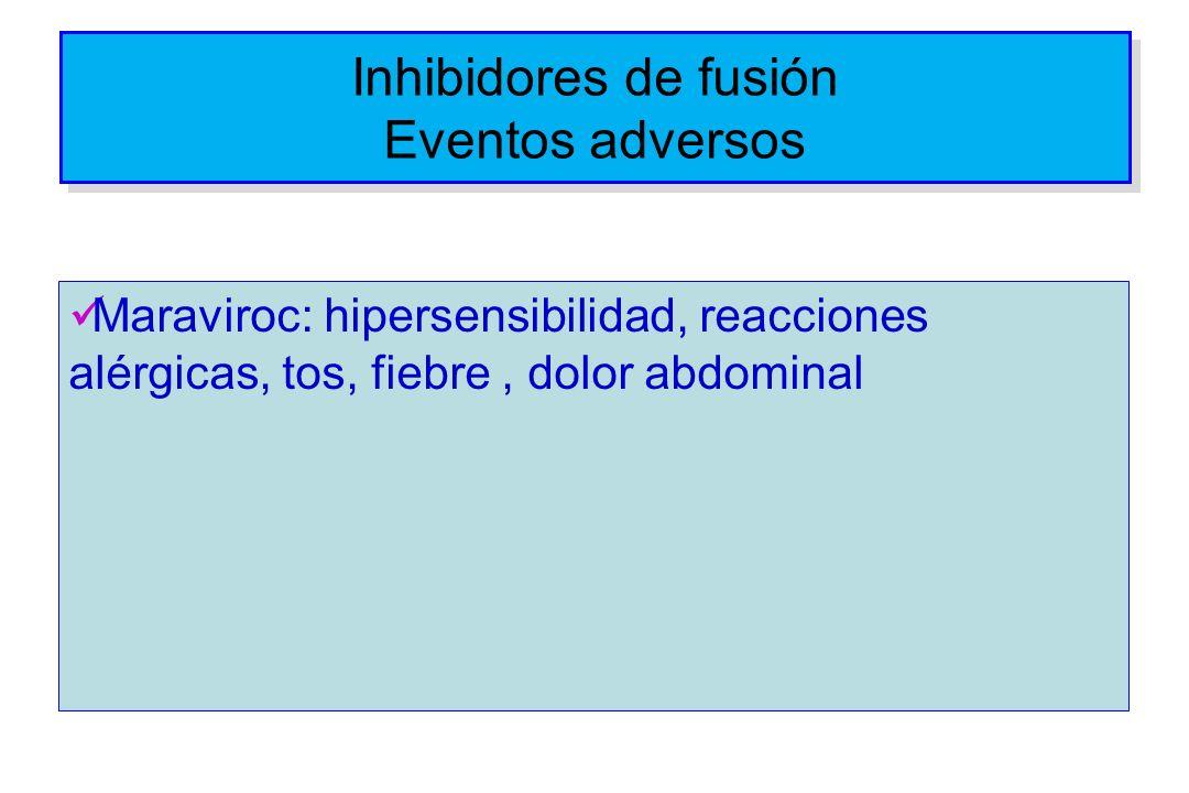 Inhibidores de fusión Eventos adversos