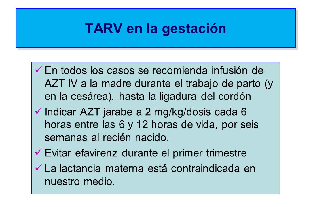 TARV en la gestación