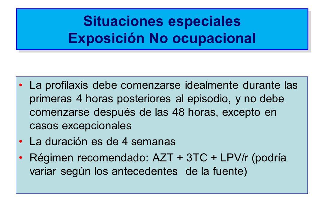 Situaciones especiales Exposición No ocupacional