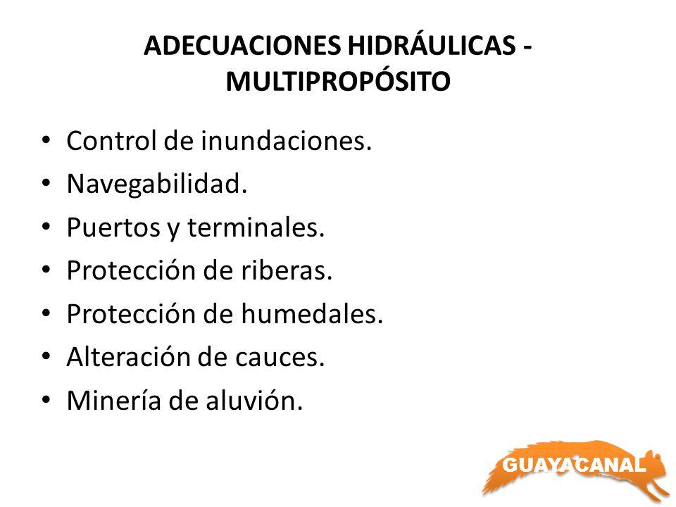ADECUACIONES HIDRÁULICAS - MULTIPROPÓSITO