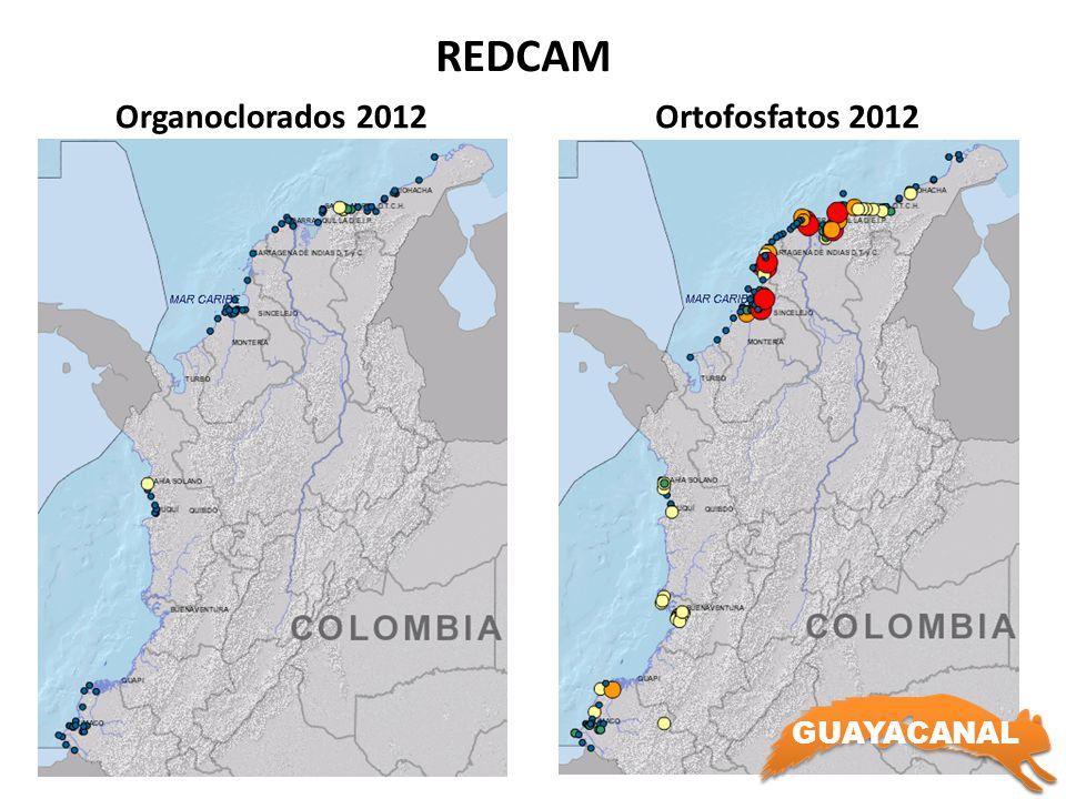 REDCAM Organoclorados 2012 Ortofosfatos 2012 GUAYACANAL